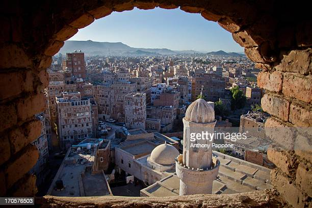 The old San'a view from a window, Yemen