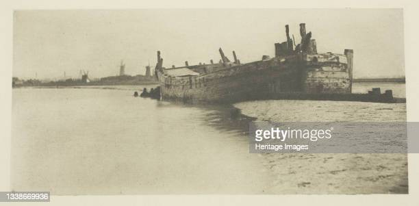 The old Ship, 1887. A work made of photoetching, pl. Vii from the album 'wild life on a tidal water: the adventures of a house-boat and her crew' ;...