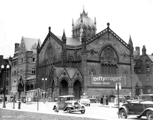 The Old South Church in Boston's Copley Square is pictured after the demolition of its leaning tower and before the construction of the replacement...