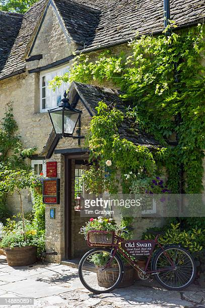 The Old Swan Hotel and Public House in Minster Lovell in The Cotswolds Oxfordshire UK
