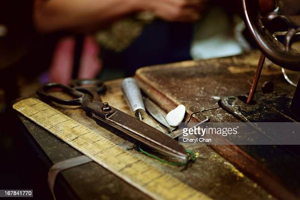 the old tailor's sewing kit