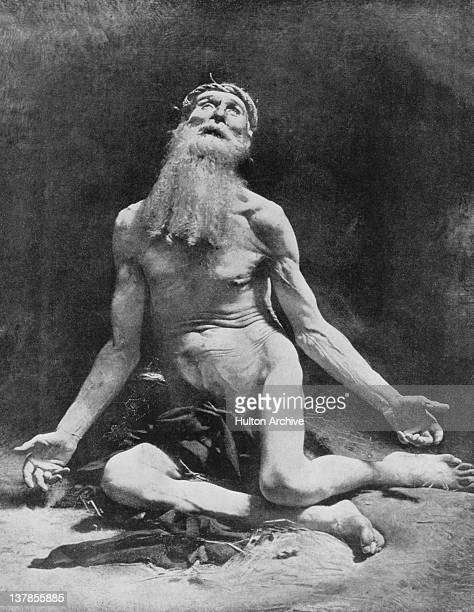 The Old Testament Biblical figure of Job as depicted by French painter Leon Bonnat in 1900