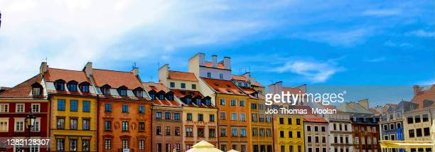 the old town buliding warsaw - warsaw stock pictures, royalty-free photos & images