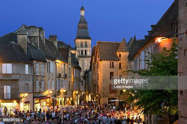 The Old Town in Sarlat at dusk