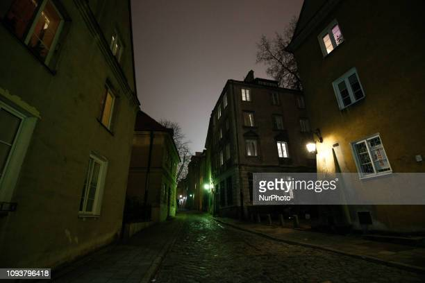 The Old Town is seen in Warsaw Poland on February 3 2019 The Old Town is the oldest part of the city situated along the banks of the Vistula river...