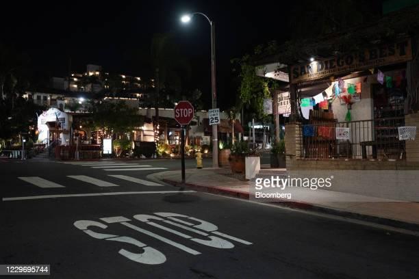 The Old Town neighborhood of San Diego, California, U.S., on Thursday, Nov. 19, 2020. California Governor Gavin Newsom imposed a curfew on the vast...