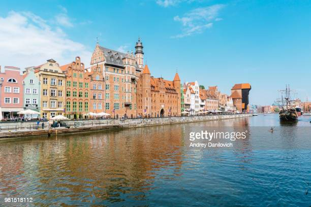 the old town of gdansk - motlawa river stock pictures, royalty-free photos & images
