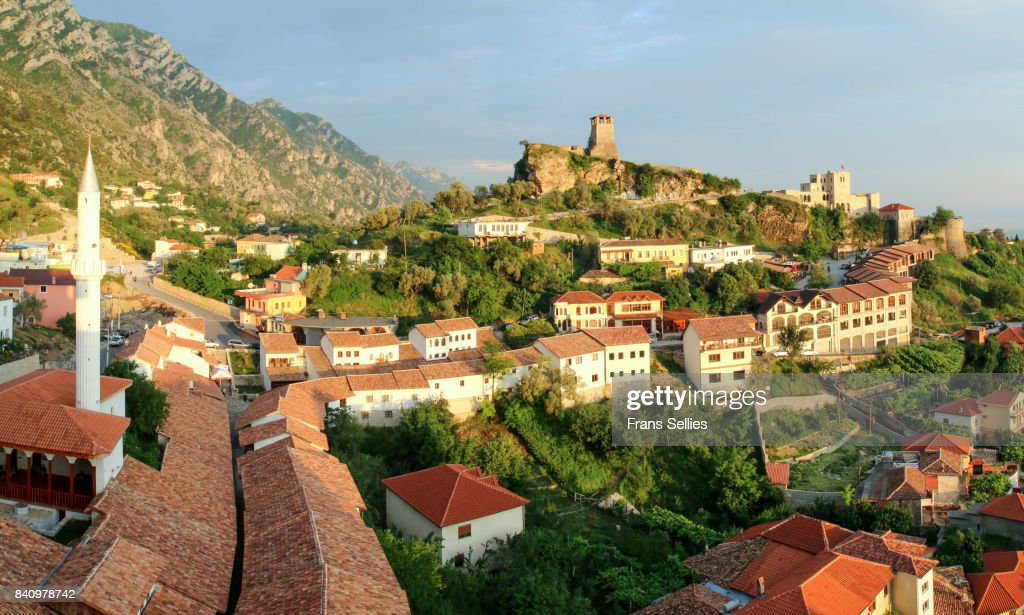 The old town of Kruje (Krujë, Kruja), Albania, Europe : Stock Photo