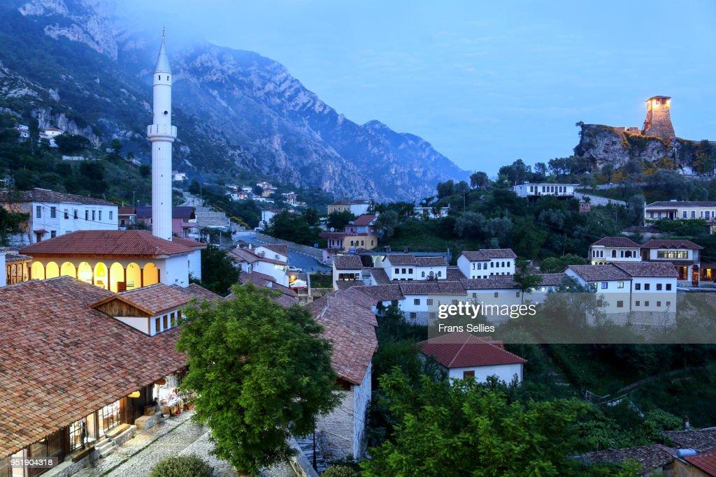 The old town of Kruje (Krujë, Kruja), Albania, Europe : ストックフォト