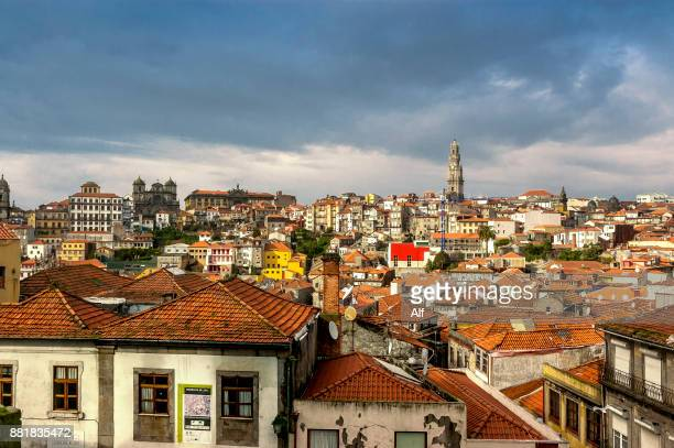 The old town of Porto seen from the esplanade in front of the cathedral., Portugal