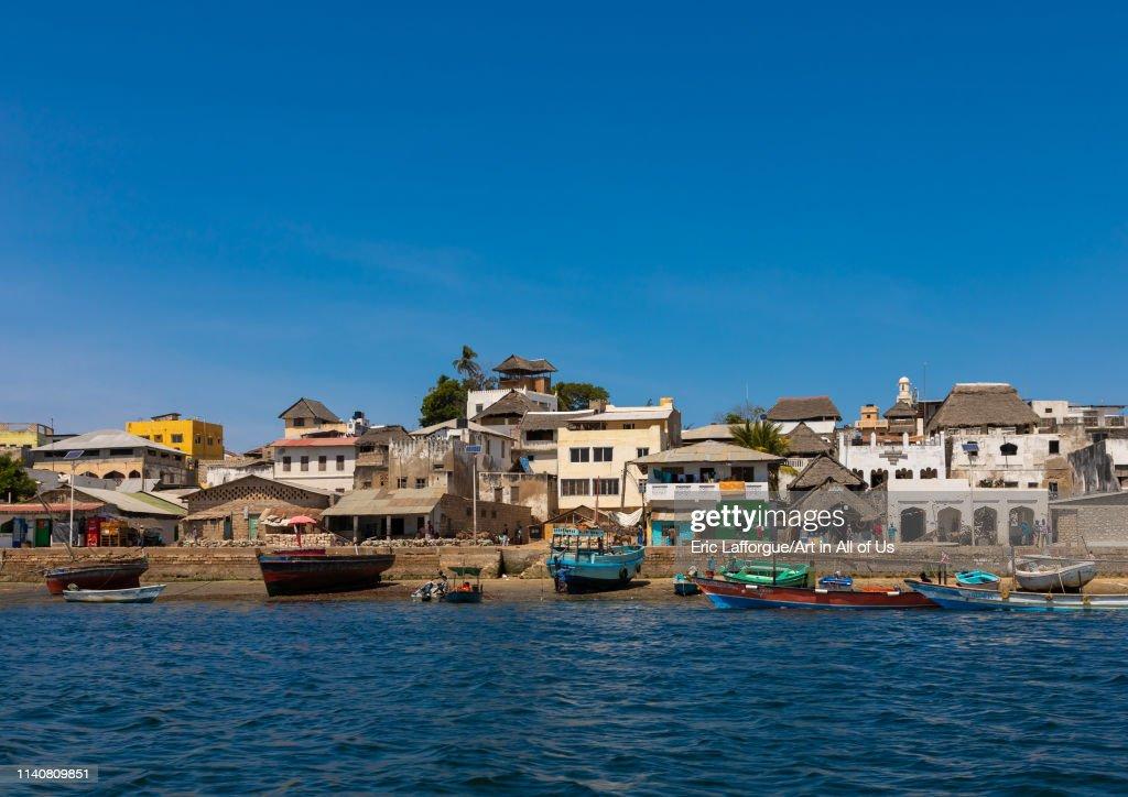 The old town seen from the sea, Lamu county, Lamu town, Kenya... : News Photo