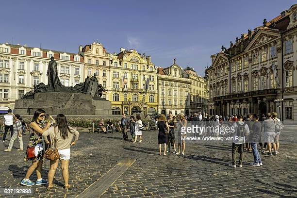 The Old Town Square of Prague, a UNESCO World Heritage Site, Czech Republic.