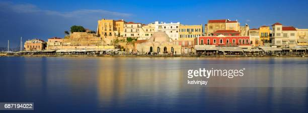 The old Venetian harbour in Chania, Crete