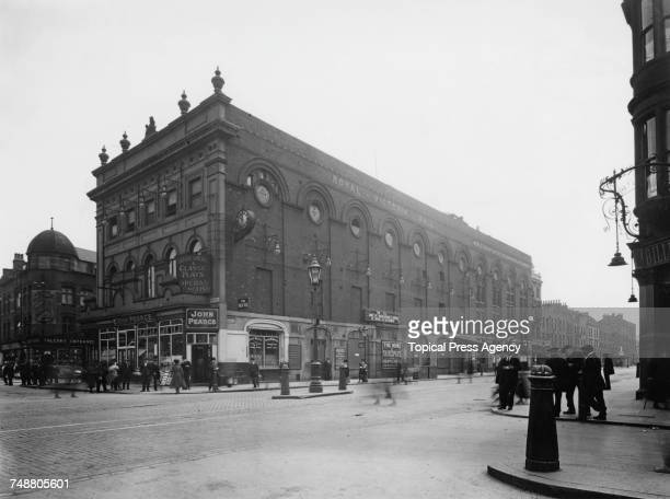 The Old Vic theatre on the corner of The Cut and Waterloo Road in Lambeth July 1922 The theatre was officially The Royal Victoria Hall but was...