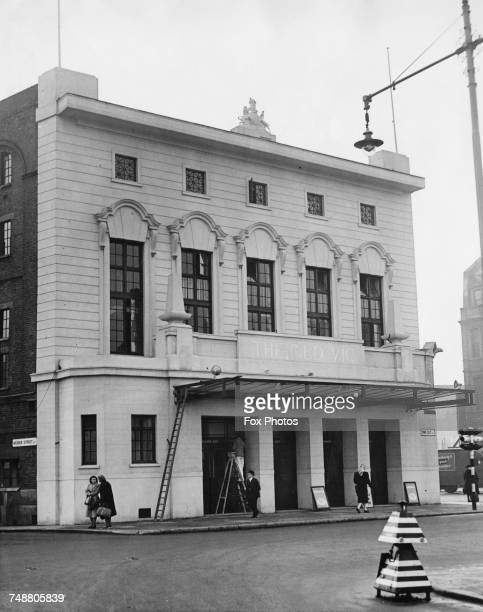 The Old Vic theatre on the corner of The Cut and Waterloo Road in Lambeth London after its postwar restoration circa 1950
