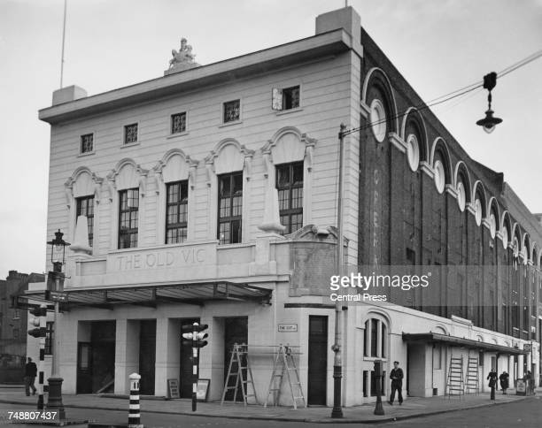 The Old Vic theatre on the corner of The Cut and Waterloo Road in Lambeth London after its postwar restoration 13th November 1950