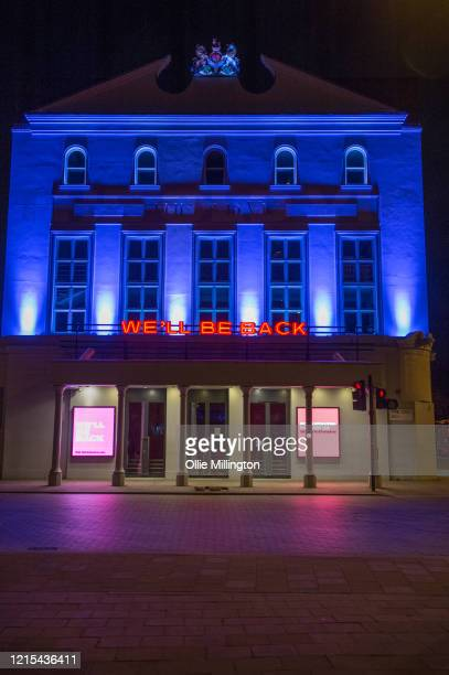 The Old Vic Theatre shut till further notice due to the Covid-19 Lockdown seen on March 28, 2020 in London, England. British Prime Minister, Boris...
