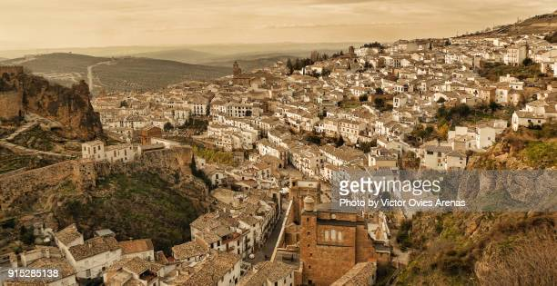 The Old Village of Cazorla in Jaen, Spain surrounded by olive trees and fortresses