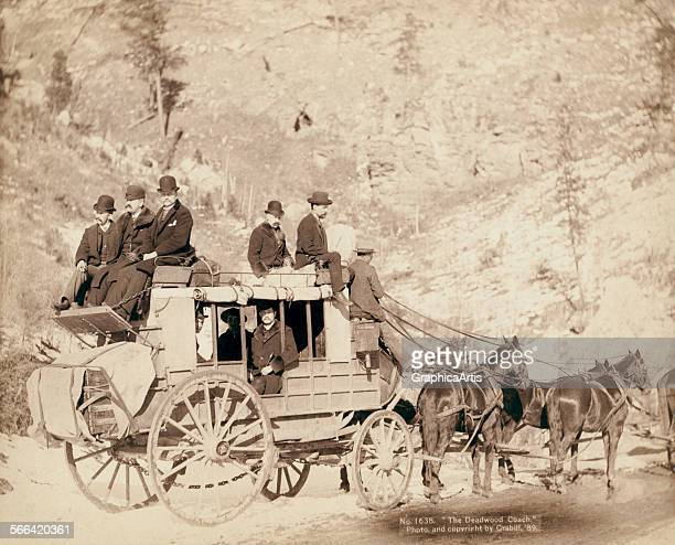 The Old West Deadwood Stagecoach by John CH Grabill albumen print 1889