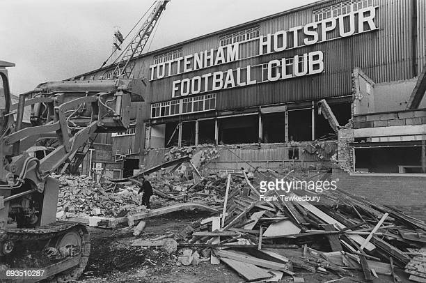 The old West Stand at Tottenham Hotspur's White Hart Lane ground being demolished London December 1980