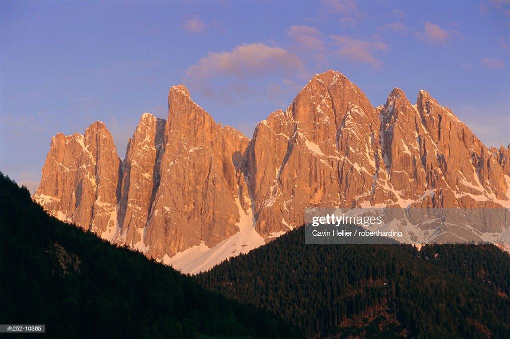 The Olde Geisler group, Trentino, Dolomites, Alto Adige, Italy, Europe : Foto de stock