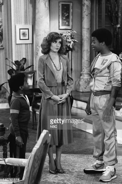 RENT STROKES The Older Man Episode 15 Pictured Gary Coleman as Arnold Jackson Dana Plato as Kimberly Drummond Todd Bridges as Willis Jackson Photo by...