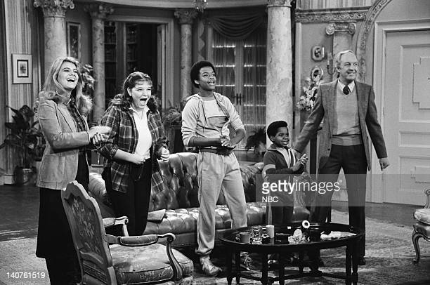 RENT STROKES The Older Man Episode 15 Pictured Lisa Whelchel as Blair Warner Mindy Cohn as Natalie Green Todd Bridges as Willis Jackson Gary Coleman...