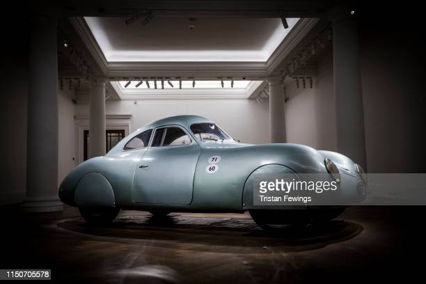 The oldest car to wear the Porsche badge goes on view at Sotheby's on May 21 2019 in London England The only surviving 1939 Porsche Type 64...