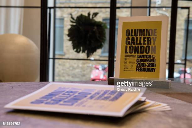 The Olumide Gallery London presents an exclusive exhibition 'Switch' during London Fashion Week in collaboration with GCU and The Body Shop Brochures...