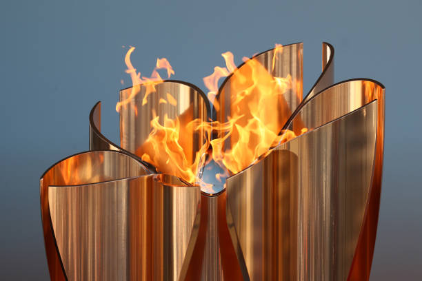 JPN: Olympic Flame Displayed A Day After Tokyo Games Postponement Announced