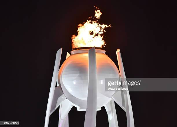 The Olympic flame is lit at the opening ceremony of the Winter Olympics in Pyeongchang, South Korea, 9 February 2018. Photo: Peter Kneffel/dpa