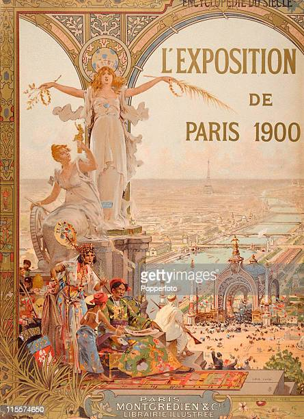 The Olympic Games were held during the Great Exposition in Paris, 1900. This image features a vintage advertising poster for the Great Exposition,...