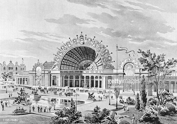 The Olympic Games were held during the Great Exposition in Paris, 1900. This image shows the ornate facade of the Palais de l'Optique or Palace of...