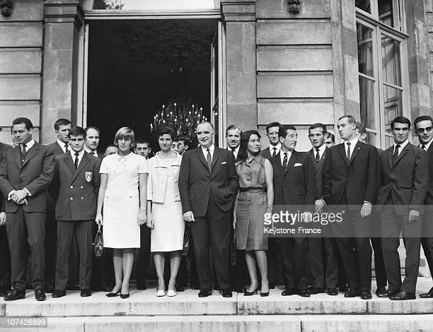 The Olympic Medal Winners To Have Lunch At Matignon At Paris In France On November 4Th 1964
