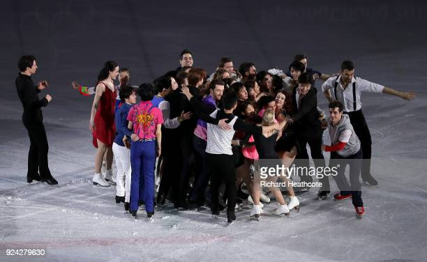 The Olympic medalists perform during the Figure Skating Gala Exhibition on day 16 of the PyeongChang 2018 Winter Olympics at Gangneung Ice Arena on...