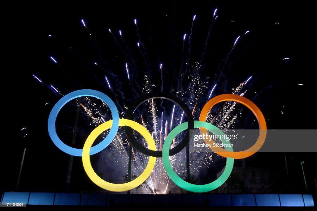 Olympic Rings Launch at Madureira Park : Fotografía de noticias