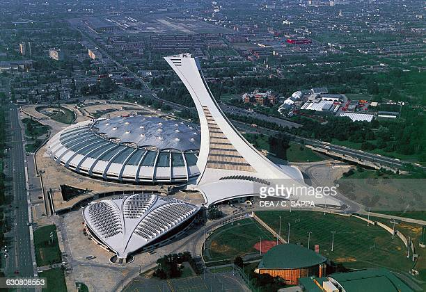 The Olympic Stadium 19731976 by Roger Taillibert aerial view Montreal Quebec Canada 20th century