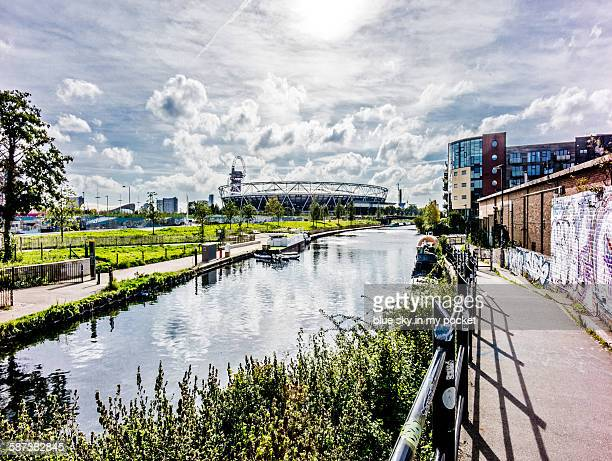 the olympic stadium at hackney wick - olympic stadium london stock pictures, royalty-free photos & images