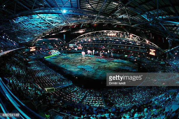 The Olympic stadium during the opening cermony of the 2000 Olympic Games in Sydney