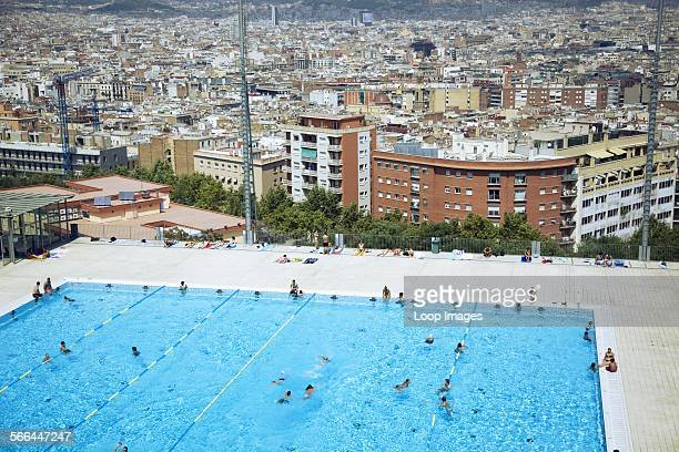 The Olympic Swimming Pool in Barcelona