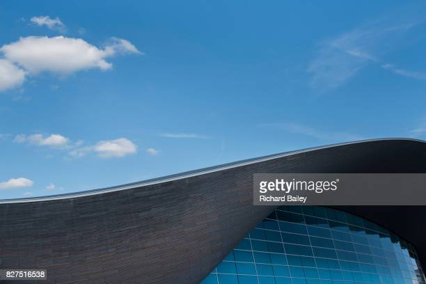the olympic swimming pool, stratford, london - 2012 summer olympics london stock pictures, royalty-free photos & images