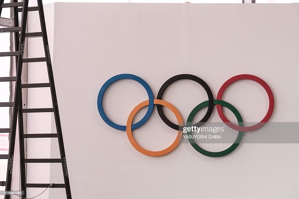 The Olympic Symbol Is Seen At The Cafeteria Of The Olympic And