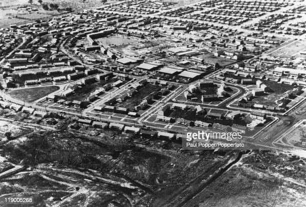 The Olympic Village in Heidelberg, a suburb of Melbourne, almost ready for the Summer Olympics, August 1956. The village will house around 6,200...