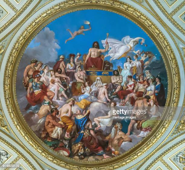 The Olympus Ceiling tondo in the Sala dell'Iliade in the Palazzo Pitti 18191825 Found in the collection of Palazzo Pitti Florence