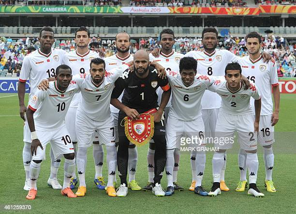 The Oman team poses before the first round Asian Cup football match between South Korea and Oman in Canberra on January 10 2015 AFP PHOTO / MARK...
