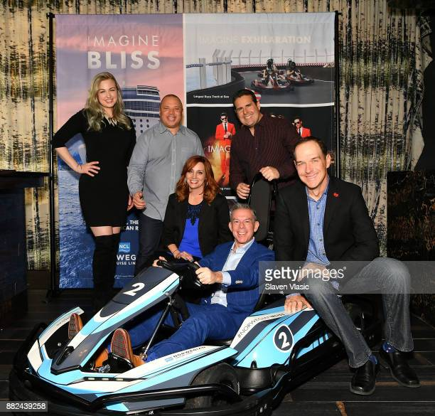 The onair cast from 'Elvis Duran and The Morning Show' Bethany Watson Greg T Danielle Monaro Elvis Duran Skeery Jones and Froggy attend Norwegian...