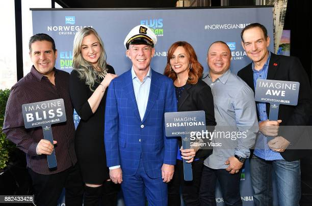 The onair cast from Elvis Duran and The Morning Show Skeery Jones Bethany Watson Elvis Duran Danielle Monaro Greg T and Froggy attend Norwegian...