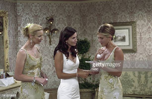 FRIENDS The One After I Do Episode 1 Aired Pictured Lisa Kudrow as Phoebe Buffay Courteney Cox as Monica GellerBing Jennifer Aniston as Rachel Green...