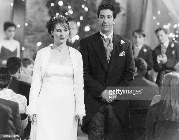 """The One After Ross Says Rachel"""" Episode 1 -- Air Date -- Pictured: Helen Baxendale as Emily Waltham, David Schwimmer as Ross Geller"""