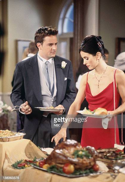 """The One After Ross Says Rachel"""" Episode 1 -- Pictured: Matthew Perry as Chandler Bing, Courteney Cox as Monica Geller"""